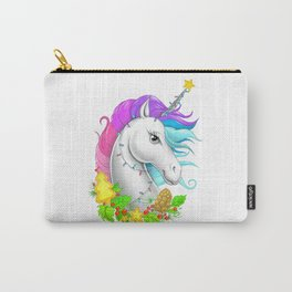 Xmas Unicorn Carry-All Pouch