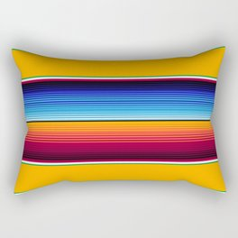 Traditional Mexican Serape in Yellow Multi Rectangular Pillow