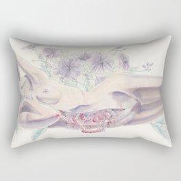 Bathing in a Violet Garden Rectangular Pillow