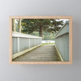 Foot bridge to a Bench Framed Mini Art Print
