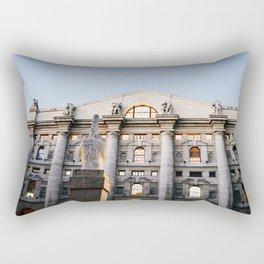 Outside the Borsa in Milan Rectangular Pillow