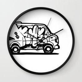 Deme 5 Graffiti Van Wall Clock