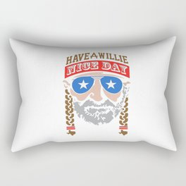 HAVE A WILLIE NELSON NICE DAY Rectangular Pillow