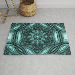Elegant teal kaleidoscopes Rug