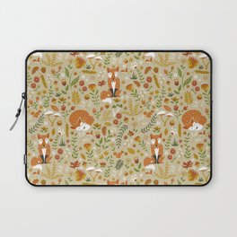 Foxes with Fall Foliage Laptop Sleeve