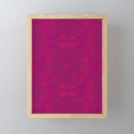 Magenta & Pink Flaming Flower Framed Mini Art Print