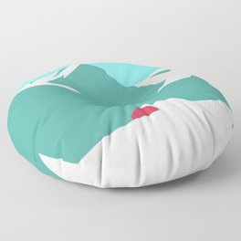 icy mountain Floor Pillow