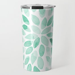 Watercolor brush strokes - aqua Travel Mug
