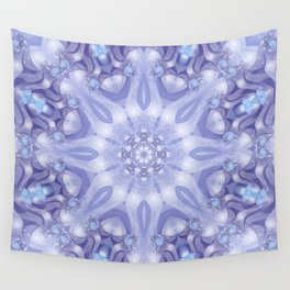 Light Blue, Lavender & White Floral Mandala Wall Tapestry