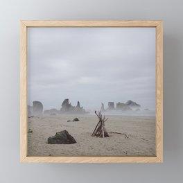 Bandon Beach Bird Framed Mini Art Print