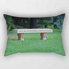 Lourdes University- Make Me an Instrument of Your Peace Rectangular Pillow