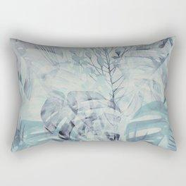 Tropical in Grey Rectangular Pillow