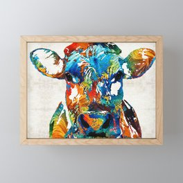 Colorful Cow Art - Mootown - By Sharon Cummings Framed Mini Art Print