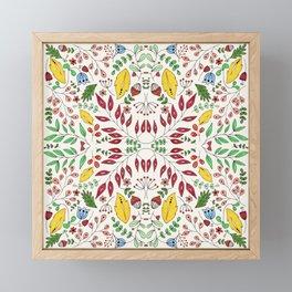 Floral Mix – Colorful Framed Mini Art Print