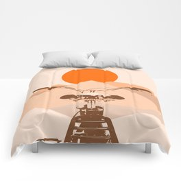 Bicycle in the sun Comforters
