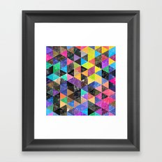 Abstract Geometric Background Framed Art Print