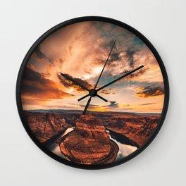 horse shoe bend canyon Wall Clock