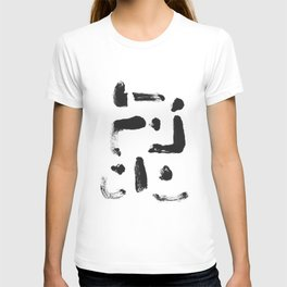 Dance Expressive Black and White Print T-shirt