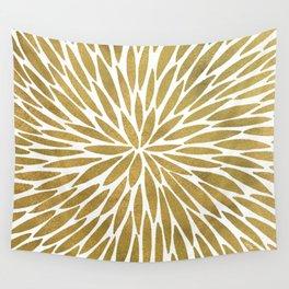 Golden Burst Wall Tapestry