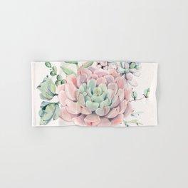 Perfect Pink Succulent Hand & Bath Towel