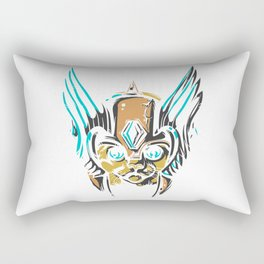 Valkyrie Cat Rectangular Pillow