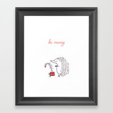 Be Merry Framed Art Print