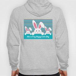 Three Bunnies Wishing You A Happy Easter Day Hoody