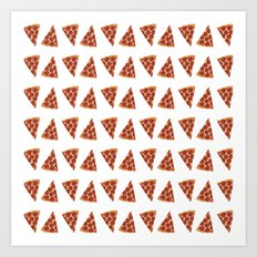 Pizza All Day  Art Print