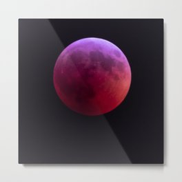 Super Blood Wolf Moon Metal Print