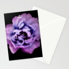 Indulgent Darkness, Violet Peony Stationery Cards