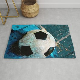 The soccerball version 2 Rug