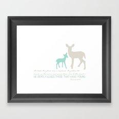 He Gently Leads - deer Framed Art Print