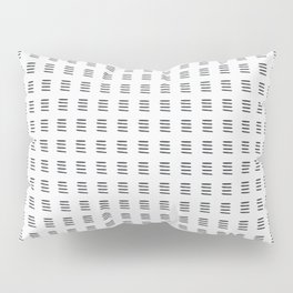 Simple Black and White Watercolor Stripes x Three Pillow Sham