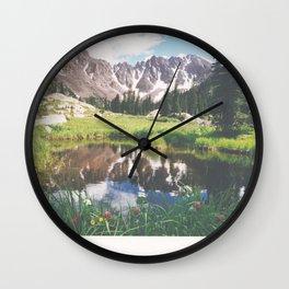 Reflections in a tarn - Gore Range, Colorado Wall Clock