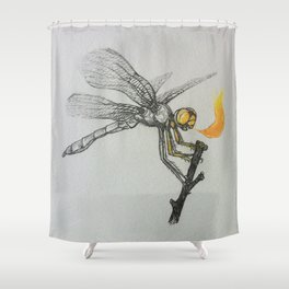 Fire-breathing Dragonfly Shower Curtain