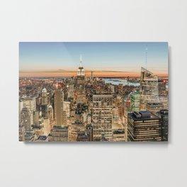 New York City Night Sky Metal Print
