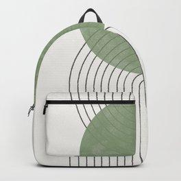 Green Moon Shape Backpack