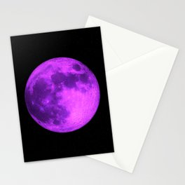 Purple Moon -Space Stars- Stationery Cards