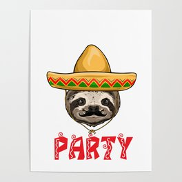 Bout A Party Sloth Poster