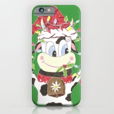 Snowbell and the Christmas lights iPhone 6s Slim Case