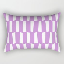Lilac and white abstract shapes pattern Rectangular Pillow