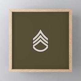 Staff Sergeant (Brown) Framed Mini Art Print