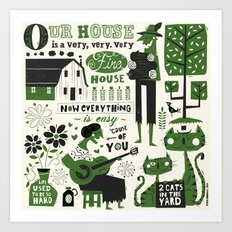 Our House Art Print
