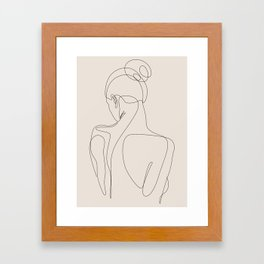dissol - one line art - pastel Framed Art Print