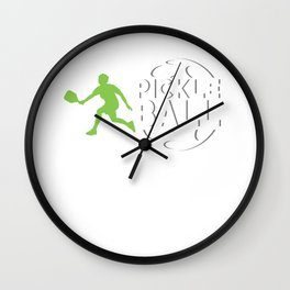 Pickleball Wiffle Ball Net Racquet Crosscourt Baseline Paddle Sports Gift Wall Clock
