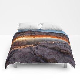 Mesa Arch Sunburst  by Lena Owens Comforters