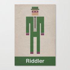 Retro Riddler Canvas Print
