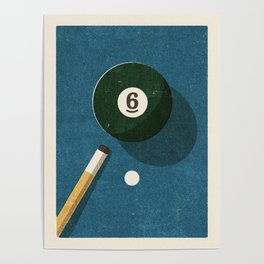 BILLIARDS / Ball 6 Poster