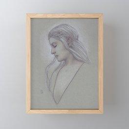 Elven Lady Framed Mini Art Print