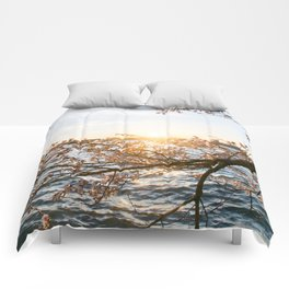 Sun Over the Horizon Comforters